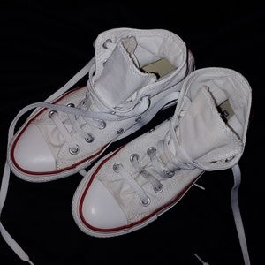 White Converse High Top Unisex sneakers